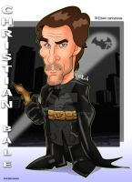 Christian Bale Caricature Color by edwinj22