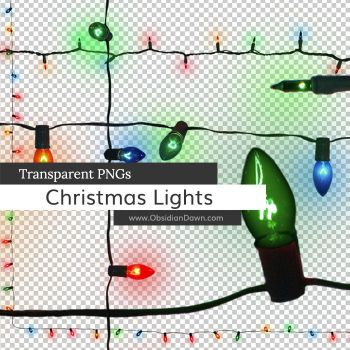 Christmas Lights PNGs by redheadstock