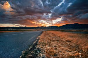 The Road - premade background by little-spacey