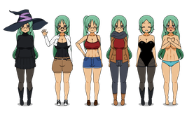 A few Outfits from Marie's Wardrobe :D by DBZRulez