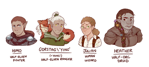 Campaign 2 - Party Portraits by oddsocket