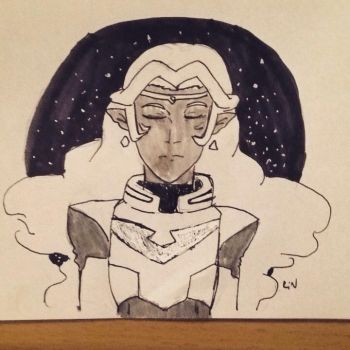 Inktober Day Twenty-Eight: Space Princess by n-trace