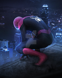 SPIDER-MAN FAR FROM HOME - NEON CITY by iMizuri