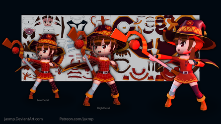 Megumin Papercraft by JAXMP