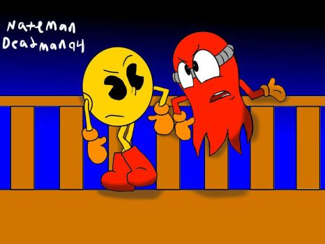 Pac Man And Blinky. by NatemanDeadman94