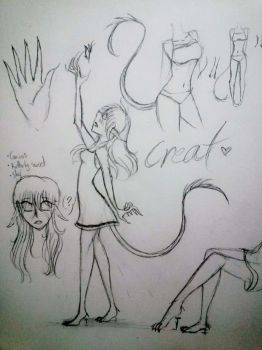 [O.C Ref Sketch] Creat by Hooded13
