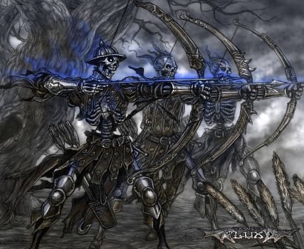 Luminous Echo: Skeleton archers by Wen-M