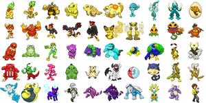 Pokemon Pyrite Sprites by RockoTheTaco