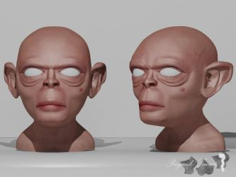GOLLUM HEAD by PT200