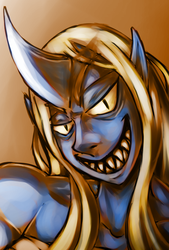 Blue Oni Portrait by CountAile