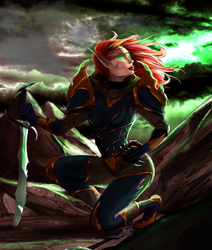 Bloodelf Rogue by justonewing
