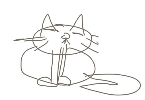 Cat drawn with eyes closed. by HazardousArts
