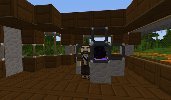 My minecraft character and my prize. by TheWriteroftheSeas