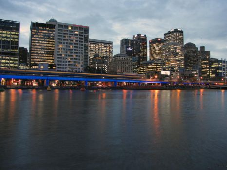 Dusk from Southbank... by pdanyluk