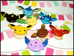 Eevee Evolutions Necklace by GrandmaThunderpants
