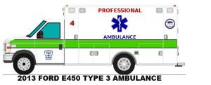 Ford E-Series Type III Professional Ambulance by AgentSmith66