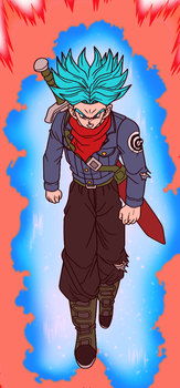 Future Trunks (Super Saiyan Blue Kaioken) by JordanMcFighter