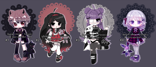 [Collab-Auction] Gothic kids [OPEN] by BabyPippo