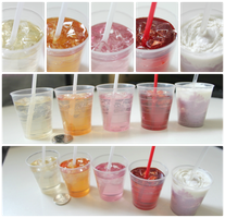Miniature Iced Drinks in 1:3 scale by Snowfern