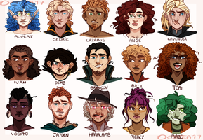 OC Face Diversity by Dottea
