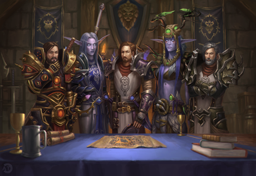[CM] WOW Group Illustration by bearcub