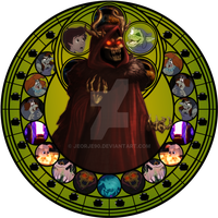 Horned King stained glass by jeorje90
