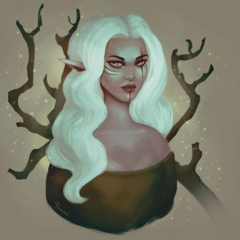 Wood Elf Queen III by pinkastr