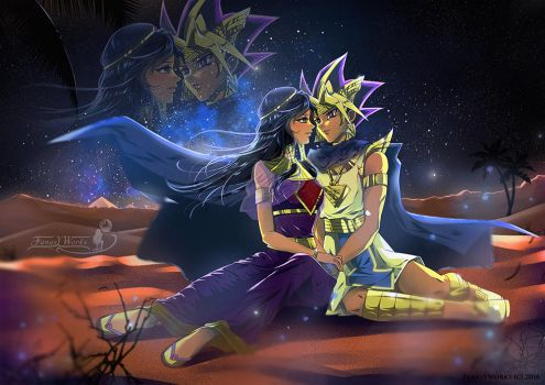 The Pharaoh and his Queen  by FanasY