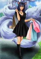 Commission: Ahri - shopping of legends by Amenoosa