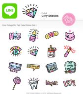 Girly Stickies for LINE by MissChatZ