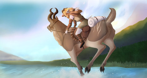 Going For A Ride by ZinyaWolf