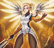 Mercy is about to  resurrect by bobcow09