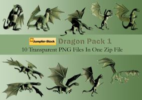 Dragon Poses PNG Stock Pack by Roy3D