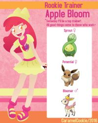 My Little Rookie Pokemon Trainer - Apple Bloom by CaramelCookie
