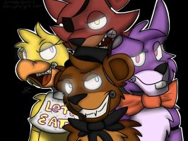 Five Nights At Freddys by InvaderSpotteh