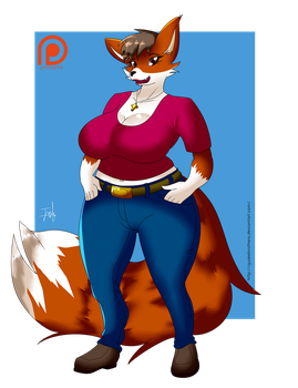 Commission: Fuchsia fox by QuakeBrothers