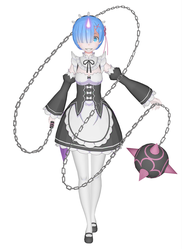 [MMD] Re Zero - Rem Oni Form by arisumatio