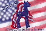 FREEDOM TO BE A BRONY by ArtisinmyHeart