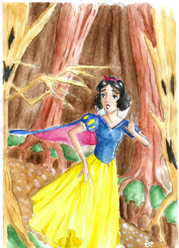 Snow-White in the Monstrous Forest by YERDUA