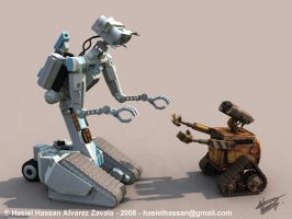 Robot Family by hasielhassan
