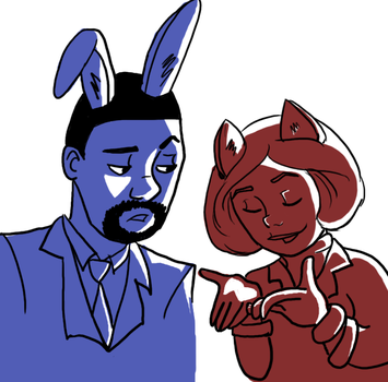 30 D OTP C JohnxAlice Day10: With Animal Ears by wolf-pirate55