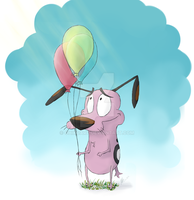 Courage the cowardly dog by OhikoArt