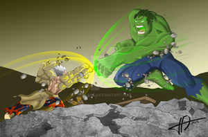 Dimension-Dino's Asura vs.Hulk by JO-Bac
