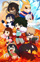 Print: Boku no Hero Academia by OMGProductions