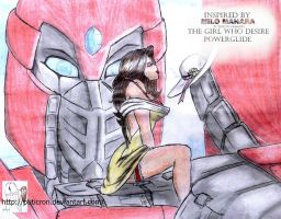 transformers: the girl who desire powerglide by puticron