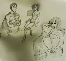 more Diana and Bruce sketches by Izzymatic