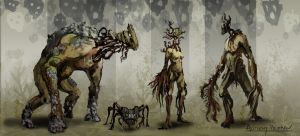 Creature Concepts by AnthonyPismarov