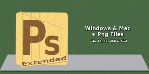 Photosh CS4 extended Wood Icon by shiftylem