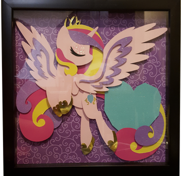 MLP Shadow Box Commission - Princess Cadance 2.0 by Magpie-pony