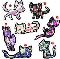 Flower Cats Adoption!! only 3 points now!!! (OPEN) by Laurinel